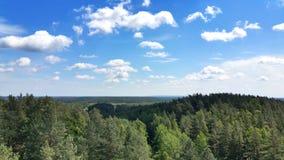 Fundo da paisagem e do céu azul Imagens de Stock