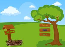 Fundo da paisagem para o jogo Ilustração Royalty Free