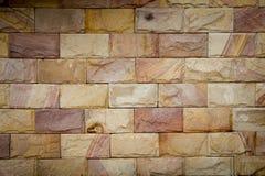 Fundo da parede de pedra de Brown Fotos de Stock