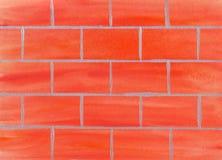 Fundo da parede de tijolo da aquarela Edif?cio elevado da ascens?o que vai acima O dia do construtor ilustração stock