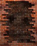 Fundo da parede de tijolo com elementos de Grunge Fotos de Stock Royalty Free