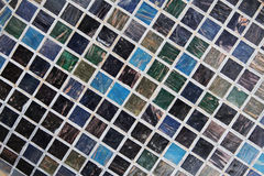 Fundo da parede de tijolo da telha Fotos de Stock
