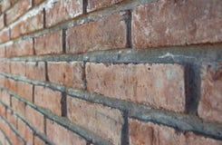 Fundo da parede de tijolo de Brown Fotografia de Stock Royalty Free