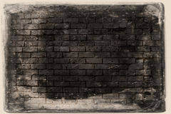 Fundo da parede de tijolo do Grunge fotografia de stock