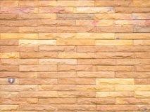 Fundo da parede de tijolo da pedra de Brown Fotos de Stock Royalty Free