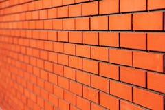 Fundo da parede de tijolo vermelho Fotos de Stock
