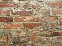 Fundo da parede de tijolo vermelho com branco foto de stock