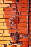 Fundo da parede de tijolo vermelho do furo n Imagem de Stock