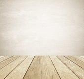 Fundo da parede do cimento do grunge de Brown e da madeira do vintage da perspectiva imagem de stock