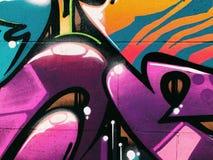 Fundo da parede dos grafittis Arte urbana da rua Fotos de Stock Royalty Free