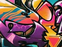 Fundo da parede dos grafittis Arte urbana da rua Foto de Stock