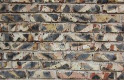 Fundo da parede dos tijolos queimados velhos Imagem de Stock Royalty Free