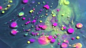 Fundo da partícula da tinta da cor video estoque