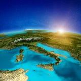 Fundo da península de Itália ilustração do vetor
