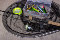Fundo da pesca de esportes fotografia de stock
