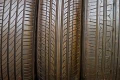 Fundo da pilha do pneu Foco seletivo Fotos de Stock