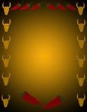 Fundo da pimenta e do gado ilustração royalty free