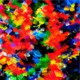 Fundo da pintura da textura da cor do arco-íris da arte Fotografia de Stock