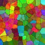 Fundo da pintura da textura da parede de pedra da cor do arco-íris da arte Fotografia de Stock Royalty Free