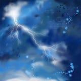 Fundo da pintura do céu da tempestade da noite ilustração stock