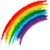 Fundo da pintura do curso da escova das cores do arco-íris da arte Fotos de Stock