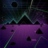 Fundo da pirâmide Foto de Stock Royalty Free