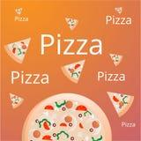 Fundo da pizza para anunciar o Web site ilustração do vetor