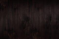 Fundo da placa de madeira do vintage do marrom escuro Textura de madeira Imagens de Stock