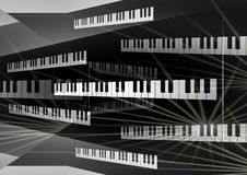 Fundo da placa do piano Fotos de Stock Royalty Free