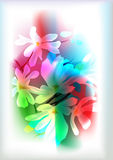 Fundo da potência de flor Ilustração Royalty Free