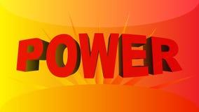 Fundo da potência Foto de Stock Royalty Free
