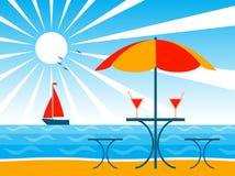 Fundo da praia ilustração royalty free