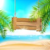 Fundo da praia do verão Imagens de Stock Royalty Free