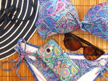 Fundo da praia do verão fotos de stock royalty free