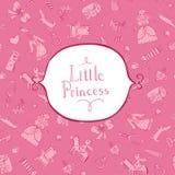 Fundo da princesa com quadro Fotos de Stock Royalty Free