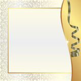 Fundo da pérola do ouro Foto de Stock Royalty Free
