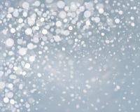 Fundo da queda de neve do vetor Imagens de Stock Royalty Free