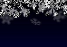 Fundo da queda de neve Neve transparente de queda com flocos de neve grandes Ilustração Royalty Free