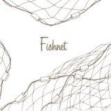 Fundo da rede de pesca Fotografia de Stock