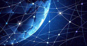 Fundo da rede global ilustração do vetor