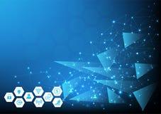 Fundo da rede da tecnologia para o negócio e o mercado em linha Ilustração do vetor foto de stock royalty free