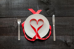 Fundo da refeição do coração Fotos de Stock Royalty Free