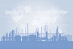 Fundo da refinaria de petróleo Fotos de Stock