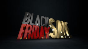 Fundo da rendição da venda 3d de Black Friday ilustração stock