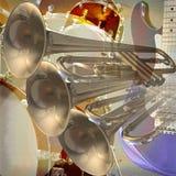 Fundo da rocha do jazz Imagens de Stock Royalty Free