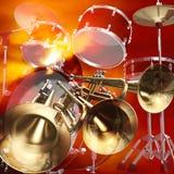 Fundo da rocha do jazz Ilustração Royalty Free