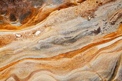 Fundo da rocha sedimentar Imagens de Stock