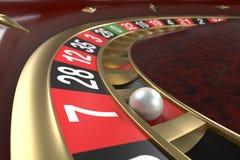 Fundo da roleta do casino ilustração stock