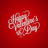 Fundo da rotulação do vintage do dia de Valentim Fotos de Stock Royalty Free