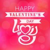Fundo da rotulação do vintage do dia de Valentim Imagens de Stock Royalty Free
